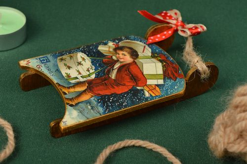 Christmas decor wooden Christmas toy ideas wall hanging decorative use only - MADEheart.com