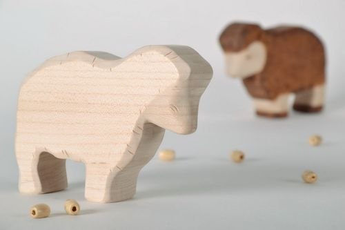 Figurine made from maple wood Lamb - MADEheart.com