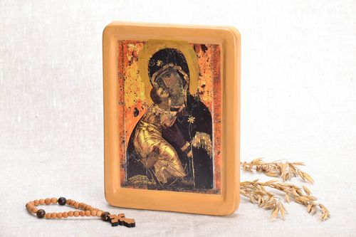 Icon printed on wood Vladimir Mother of God - MADEheart.com