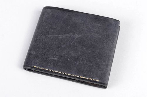 Handmade leather wallet mens leather wallet designer wallets mens accessories - MADEheart.com