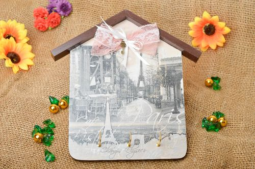 Handmade key rack decoupage key rack wooden key rack decorative use only - MADEheart.com