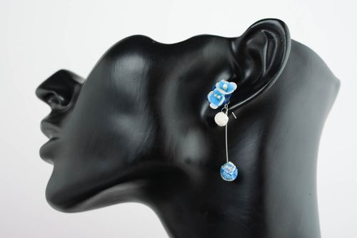 Cuff earrings with charms Color Glow - MADEheart.com