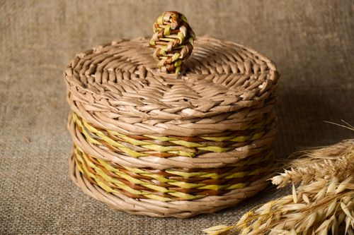 Handmade woven bread basket designer beautiful accessories stylish kitchen decor - MADEheart.com