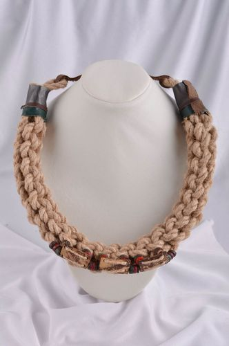 Woven necklace in ethnic style leather accessories fashion necklace for women - MADEheart.com