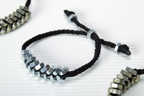 Woven bracelet with nuts - MADEheart.com