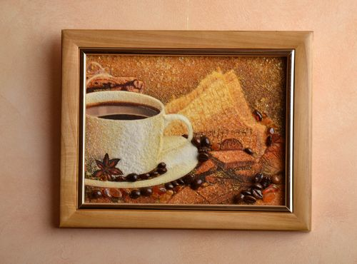 Amber decorated picture Cup of Coffee - MADEheart.com