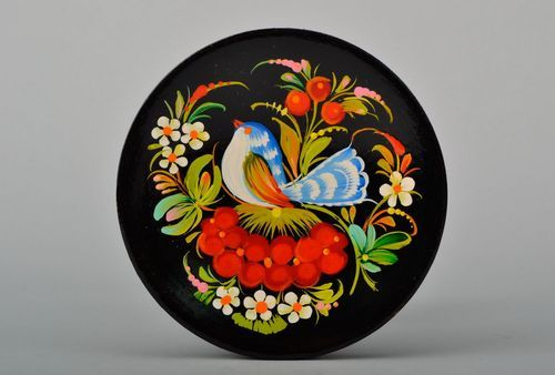 Decorative wooden plate with painting - MADEheart.com