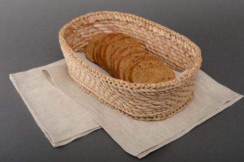 Beautiful small woven bread basket - MADEheart.com