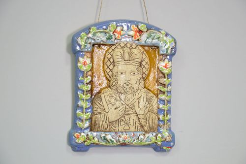Clay icon of St. Nicholas - MADEheart.com