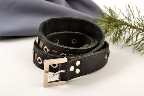 Mens belt handmade leather goods men accessories designer belts for men - MADEheart.com