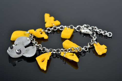 Bracelet Mouse and Cheese - MADEheart.com