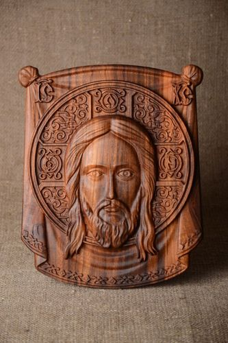Handmade orthodox icon wooden lovely accessories beautiful unusual home decor - MADEheart.com