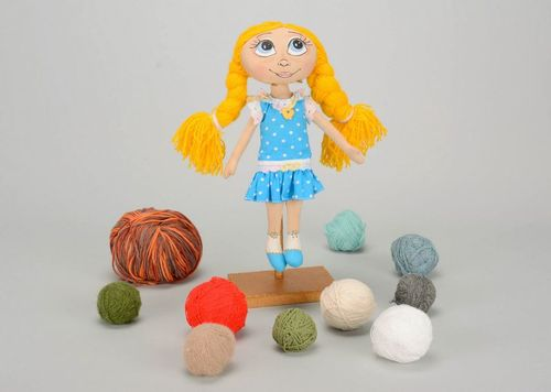 Fragranced doll with yellow braids  - MADEheart.com