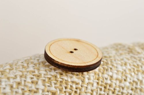 Beautiful handmade wooden button needlework accessories plywood blank gift ideas - MADEheart.com