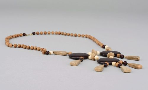 Wooden handmade beads with clasp - MADEheart.com