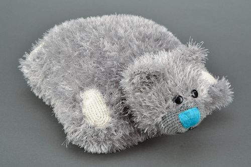 Gray knitted soft pillow pet - MADEheart.com