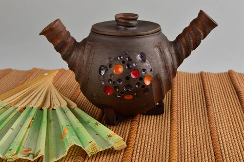 Handmade ceramic teapot small teapot pottery art ceramic cookware kitchen decor - MADEheart.com