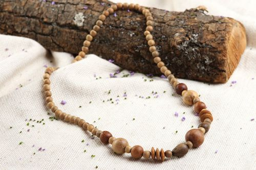 Handmade beaded necklace wooden necklace beaded accessories fashion jewelry - MADEheart.com