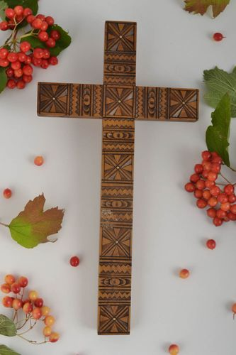 Wall cross handmade home decor wall hanging religious gifts wall hanging - MADEheart.com