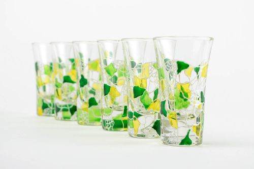 Set of shot glasses unusual table ware stylish glasses for alcohol glass ware - MADEheart.com