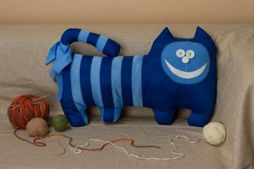 Pillow toy Blue Cat - MADEheart.com