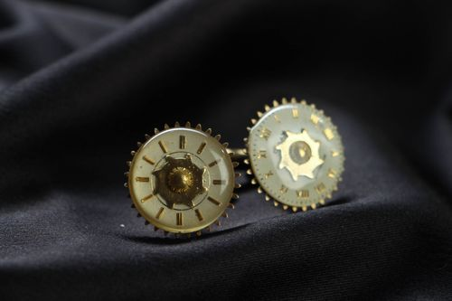 Cufflinks in cyberpunk and steampunk styles - MADEheart.com