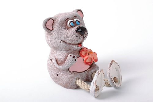 Ceramic money box Little Bear - MADEheart.com