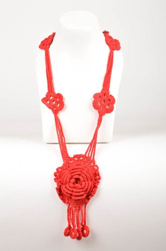 Handmade necklace crochet accessories fashion necklaces for women gifts for her - MADEheart.com