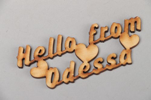 Plywood craft blank lettering Hello From Odessa - MADEheart.com