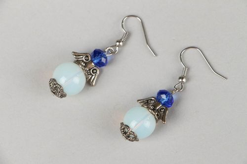 Earrings with moonstone - MADEheart.com