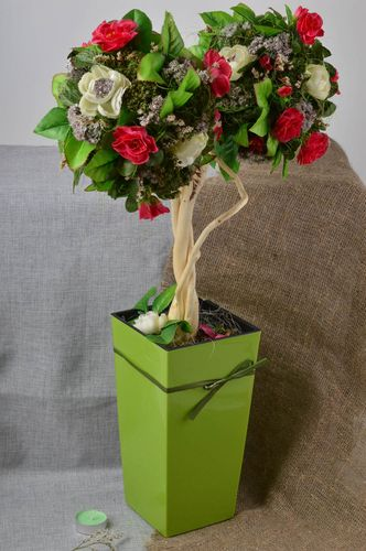 Handmade tree of happiness decorative topiary home decor decorative use only - MADEheart.com
