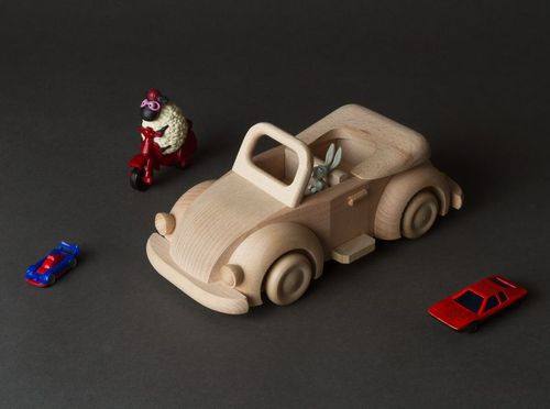 Wooden blank toy car - MADEheart.com