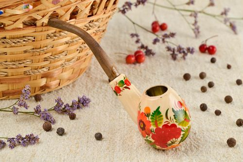 Handmade pipe decor ideas unusual smoking pipe decorative use only gift ideas - MADEheart.com