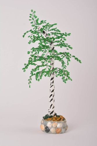 Homemade home decor artificial tree bead weaving topiary tree for decorative use - MADEheart.com