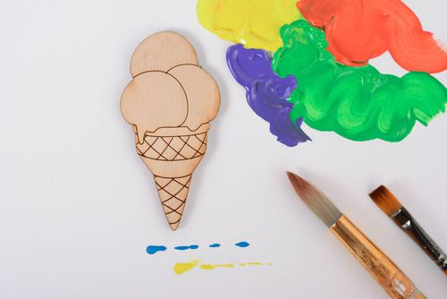 Homemade blank for painting Ice Cream - MADEheart.com