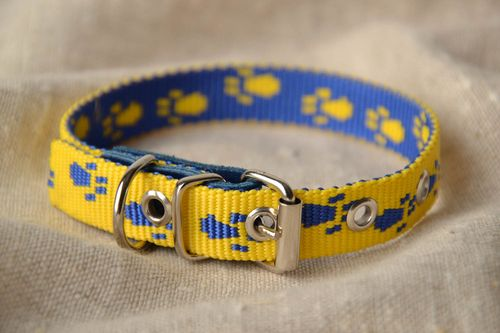 Fabric dog collar - MADEheart.com