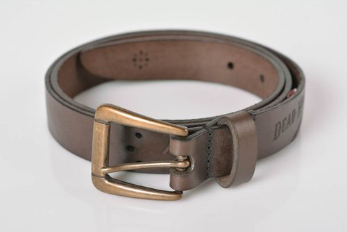 Belt for men handmade leather belt designer accessories handmade leather goods - MADEheart.com