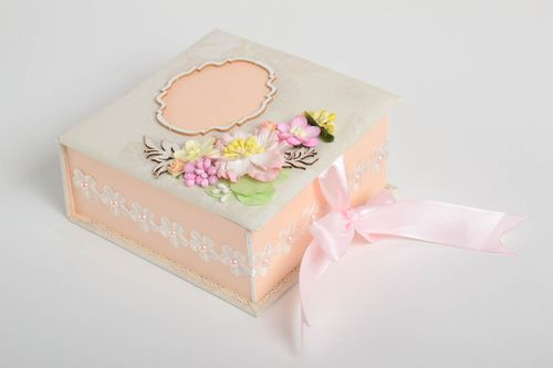 Stylish handmade decorative box interesting home decor unusual box present - MADEheart.com
