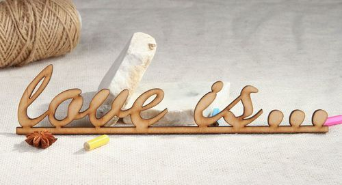 Chipboard lettering Love is... - MADEheart.com