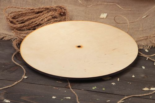 Handmade large round plywood craft blank for decoupage wall clock art supplies - MADEheart.com