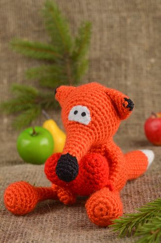 Homemade toy fox soft toy collectible toy nursery decor presents for children - MADEheart.com