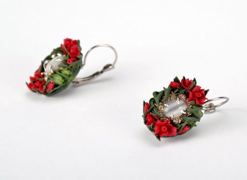 Handmade earrings made ​​of polymer clay - MADEheart.com
