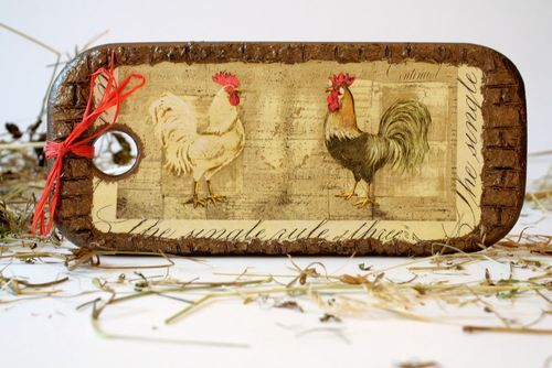 Decorative cutting board Roosters - MADEheart.com