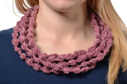 Crochet multi-row necklace - MADEheart.com
