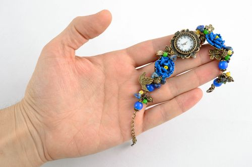 Polymer clay wrist watch - MADEheart.com