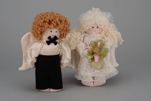 Couple of Wedding Toys Flower Angel - MADEheart.com