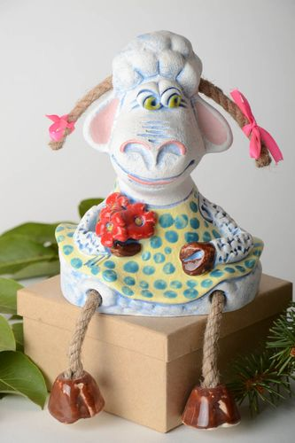 Funny handmade money box ceramic moneybox pottery works gifts for kids - MADEheart.com