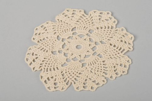 Handmade napkin crocheted napkin decor ideas kitchen accessory table decorative - MADEheart.com
