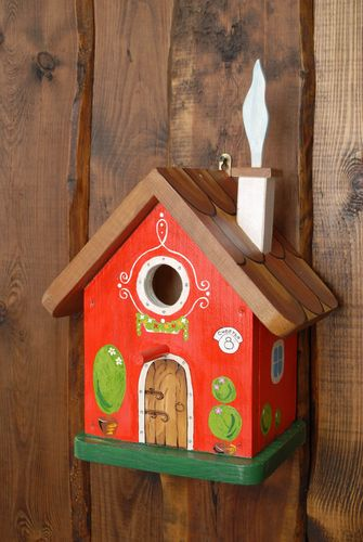 Wooden nest box with painting Forest House - MADEheart.com