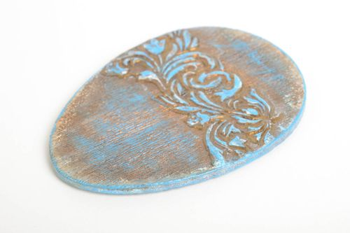 Beautiful blue fridge magnet stylish home decor interesting accessories - MADEheart.com